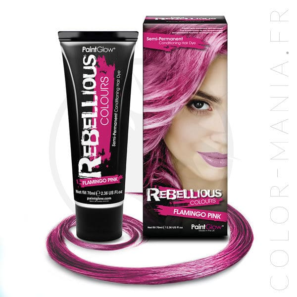 Coloration Cheveux Rose Flamingo Pink - Rebellious | Color-Mania