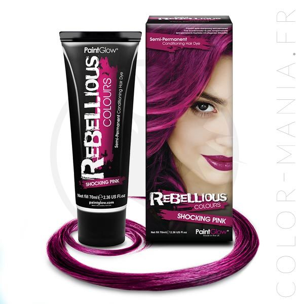 Coloration Cheveux Rose Shocking Pink - Rebellious | Color-Mania