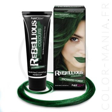 Coloration Cheveux Vert Enchanted Forest- Rebellious | Color-Mania