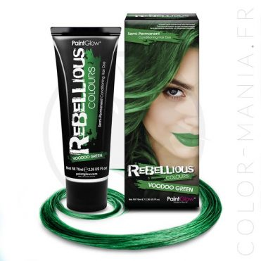 Coloration Cheveux Vert Voodoo Green - Rebellious | Color-Mania