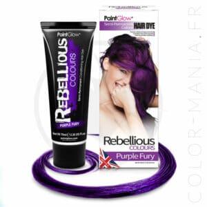 Coloration Cheveux Violet Purple Fury - Rebellious   Color-Mania