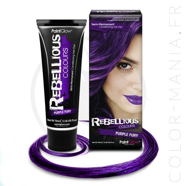 Coloration Cheveux Violet Purple Fury - Rebellious | Color-Mania