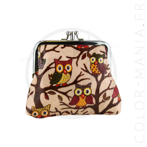 Owls Printed Retro Wallet | Color-Mania