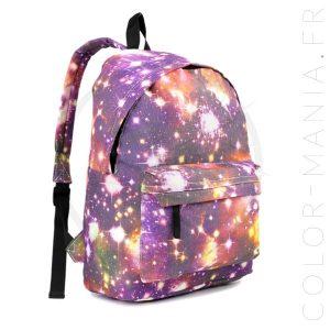 Sac à Dos Galaxy Violet | Color-Mania