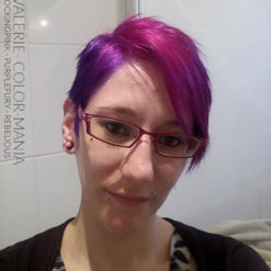 Rose - Merci Valérie :) Coloration Cheveux Shocking Pink et Purple Fury - Rebellious