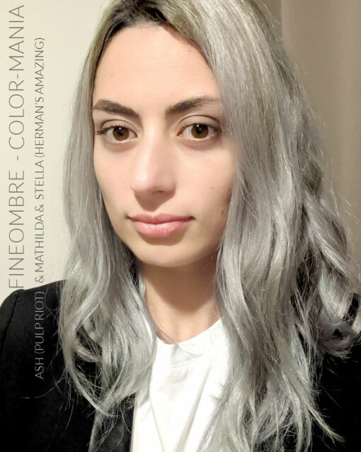 Merci @fineombre :) Coloration Cheveux Gris Granny Mathilda Grey - Herman's Amazing | Color-Mania