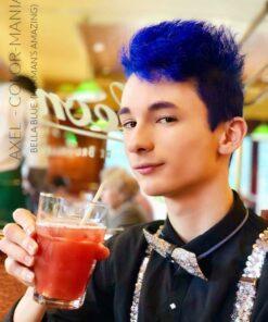 Merci Axel :) Coloration Cheveux Bleu Bella Blue - Herman's Amazing | Color-Mania