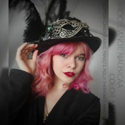Merci Broceliande Nausicaa :) Coloration Cheveux Rose Cotton Candy Pink UV - Manic Panic | Color-Mania