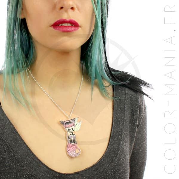 Collier Sirène Zombie Pastel | Color-Mania