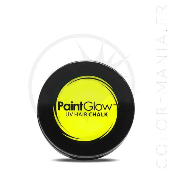 Tiza UV para el cabello amarillo - PaintGlow | Color-Mania