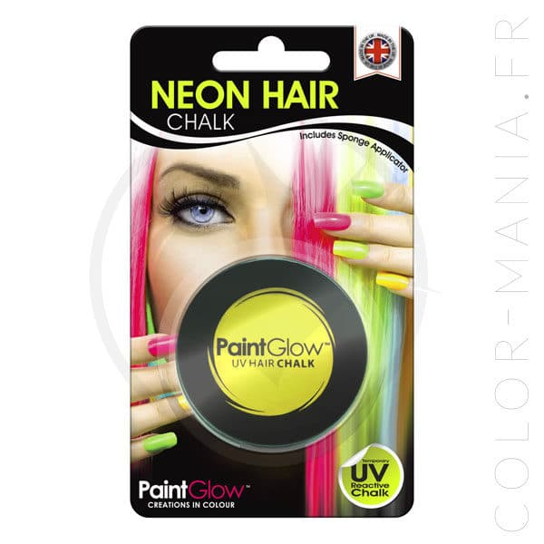 Craie Cheveux Jaune UV - PaintGlow | Color-Mania