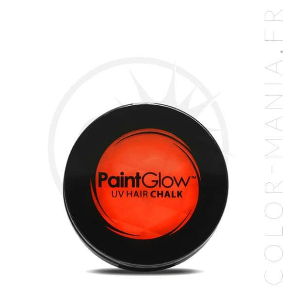 Tiza de cabello UV naranja - PaintGlow | Color-Mania