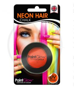 Gessetto per capelli UV arancione - PaintGlow | Color-Mania