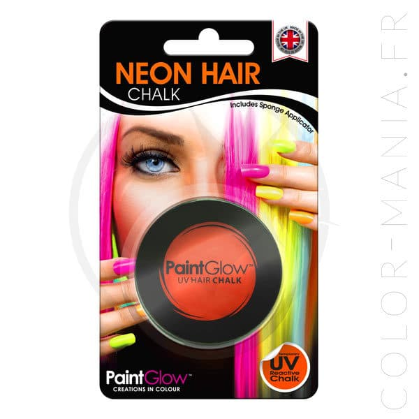 Craie Cheveux Orange UV - PaintGlow | Color-Mania
