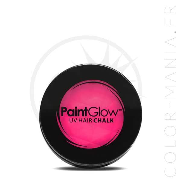 Tiza rosada del pelo ULTRAVIOLETA - PaintGlow | Color-Mania