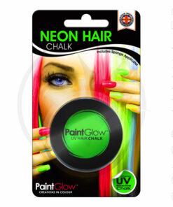 Tiza UV para el cabello verde - PaintGlow | Color-Mania