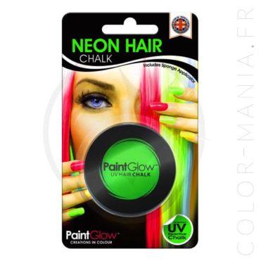 Craie Cheveux Vert UV - PaintGlow | Color-Mania