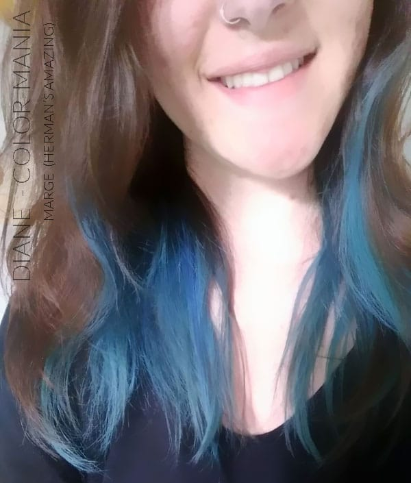 Merci Diane :) Coloration Cheveux Bleu Marge Blue - Herman's Amazing | Color-Mania