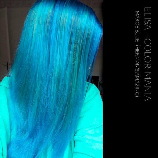 Merci Elisa :) Coloration Cheveux Bleu Marge Blue - Herman's Amazing | Color-Mania