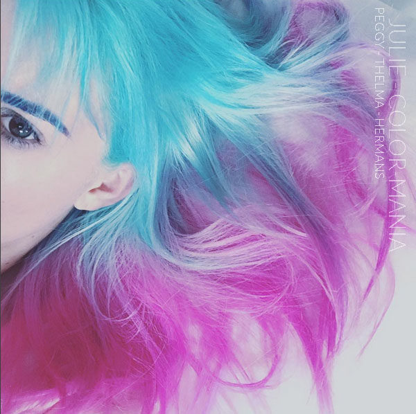 Turquoise et Rose - Merci Julie :) Coloration Cheveux Thelma et Peggy - Herman's Amazing