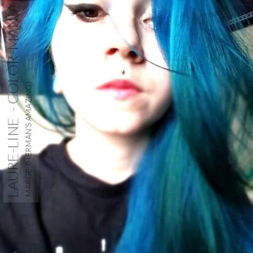 Merci Laure-Line :) Coloration Cheveux Bleu Marge Blue - Herman's Amazing | Color-Mania