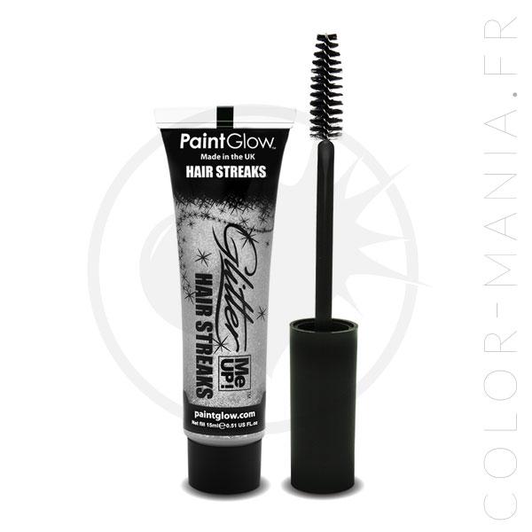 Mascara Cheveux Paillettes Argent | Color-Mania