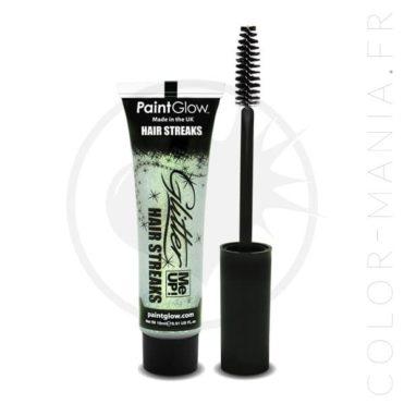 Mascara Cheveux Paillettes Blanc Irisé   Color-Mania