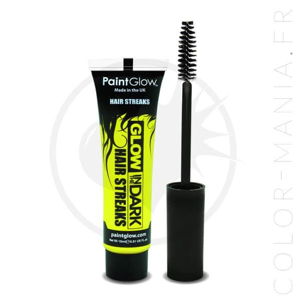 Mascara Cheveux Jaune Phosphorescent dans le Noir | Color-Mania