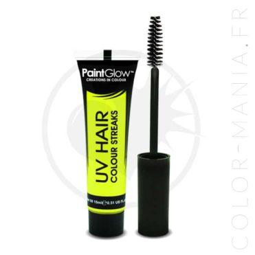 Mascara Cheveux Jaune UV | Color-Mania
