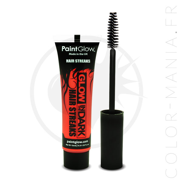 Mascara Cheveux Orange Phosphorescent dans le Noir | Color-Mania