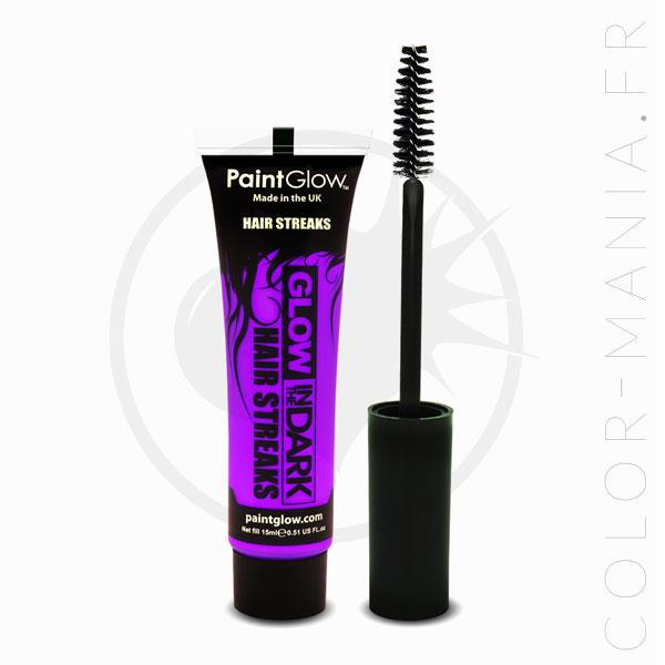 Mascara Cheveux Violet Phosphorescent dans le Noir | Color-Mania