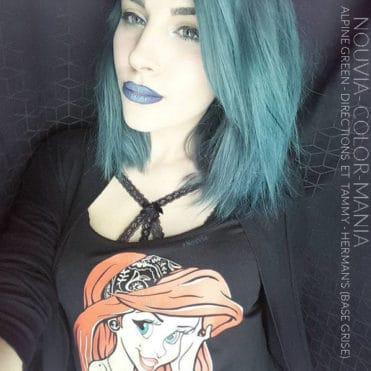 Merci Nouvia ! :)- Coloration Cheveux Alpin Green La Riché Directions - Tammy - Herman's Amazing sur base grise