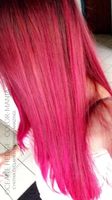 Merci Oceane Hedge :) Coloration Cheveux Rose Cynthia Cyclamen - Herman's Amazing | Color-Mania