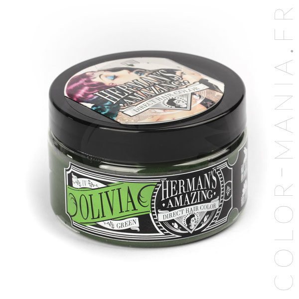 Coloration Cheveux Vert Olivia Green UV - Herman's Amazing | Color-Mania