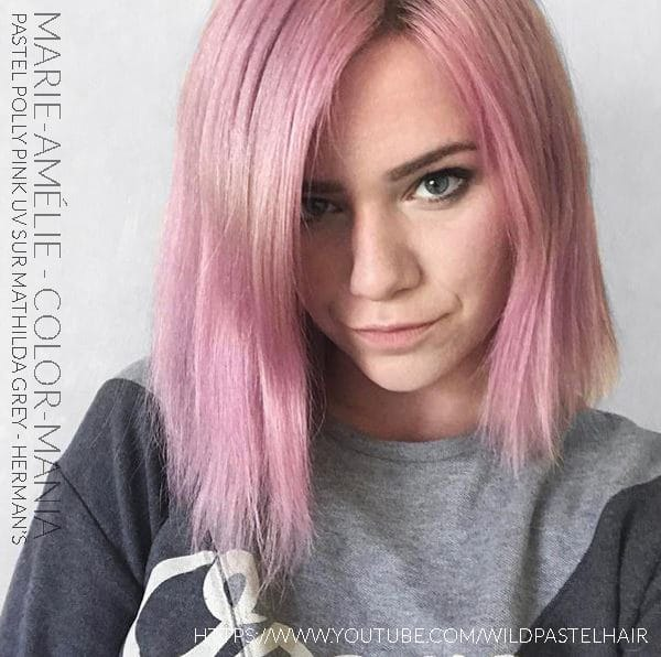 Merci Mari-Amélie! - Coloration Cheveux Pastel Polly Pink UV - Herman's Amazing