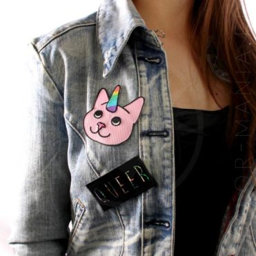 Patch Chat-Licorne Rose | Color-Mania