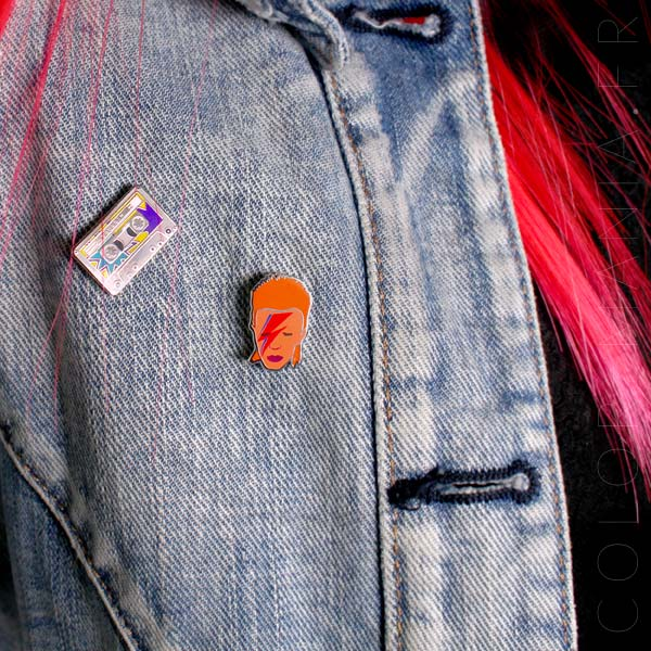 David Bowie Pin y casete de audio Mixtape | Color-Mania