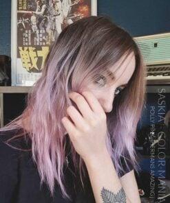Merci Saskia :) Coloration Cheveux Rose Pastel Polly Pink UV - Herman's Amazing | Color-Mania