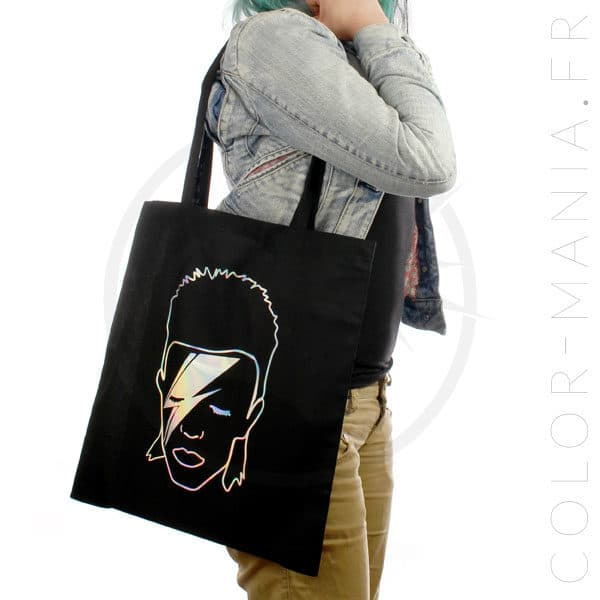 Sac Tote Bag David Bowie Holographique | Color-Mania