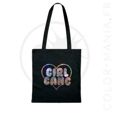 Sac Tote Bag Girl Gang Holographique | Color-Mania