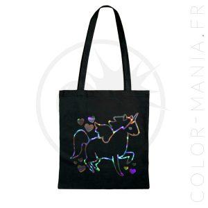 La bolsa de asas olográfica holográfica | Color-Mania