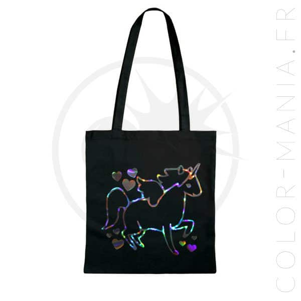 Sac Tote Bag Licorne Holographique | Color-Mania