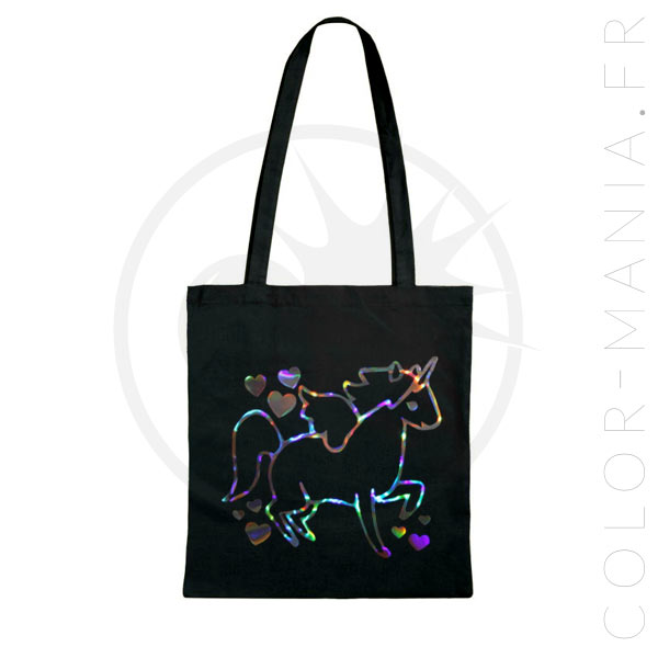 Sac Tote Bag Licorne Holographique | Color-Mania