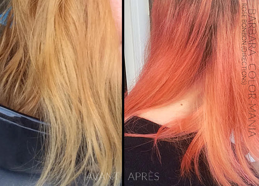 Merci Barbara :) Coloration Cheveux Rose Bonbon - Directions