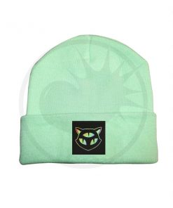 Beanie Green Mint Cat 3 Occhi olografici | Color-Mania