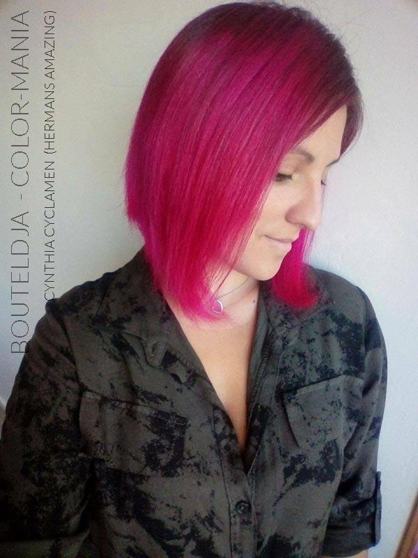 Merci Bouteldja :) Coloration Cheveux Rose Cynthia Cyclamen - Herman's Amazing | Color-Mania