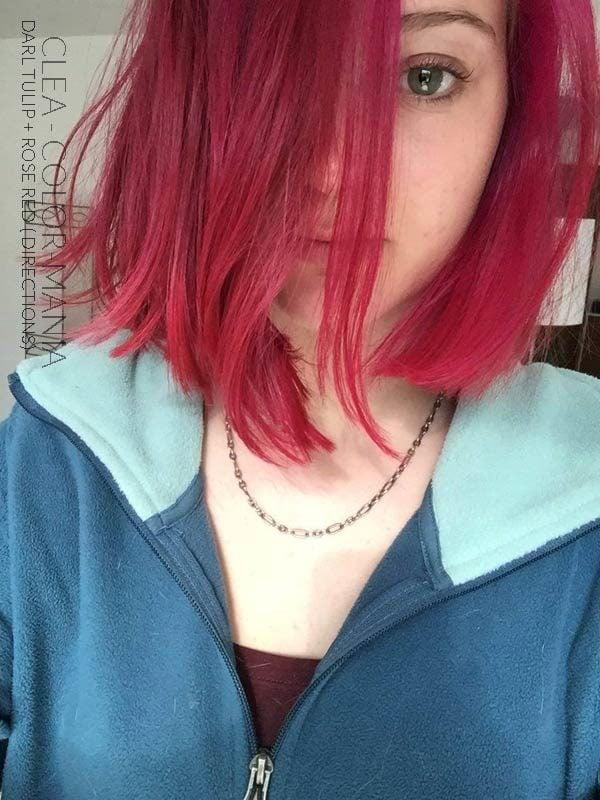 Grazie Cléa :) Rosso Colore dei capelli Rosa + Nero Tulipano - Indicazioni