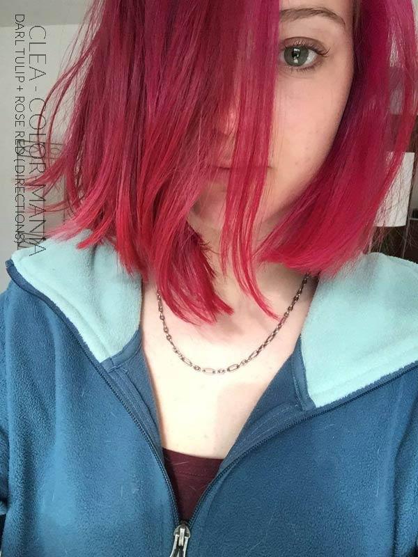 Merci Cléa :) Coloration Cheveux Rouge Rose + Tulipe Noire - Directions