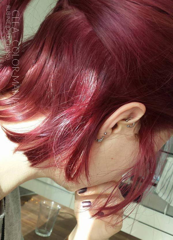 """Merci Cléa :) Coloration Cheveux Rouge """"Rubine"""" - Directions"""