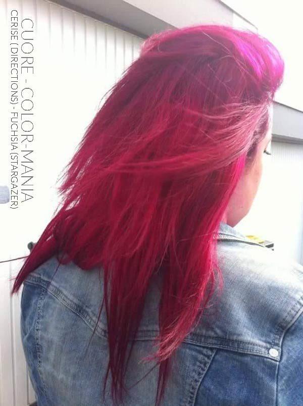 Merci Cuore :) Coloration Cheveux Rose Cerise - Directions + Fucshia - Stargazer